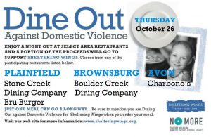 Dine Out Against Domestic Violence @ Various locations throughout Hendricks County